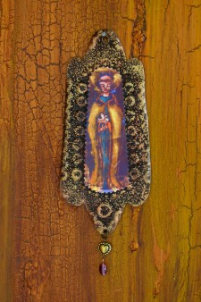 Saint Francis Rusty Retablo Ornament