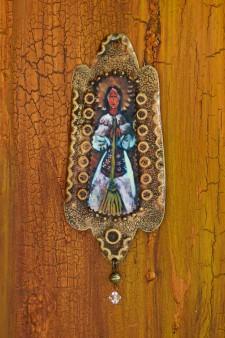 Santa Marta Rusty Retablo Ornament