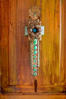 Barn Wood Flower Dangle Cross
