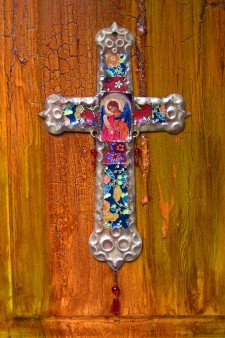 Saint Michael Retablo Cross
