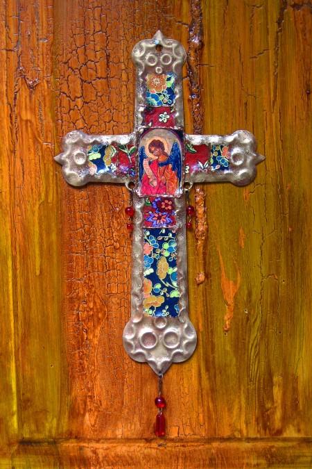 Saint Michael Retablo Cross