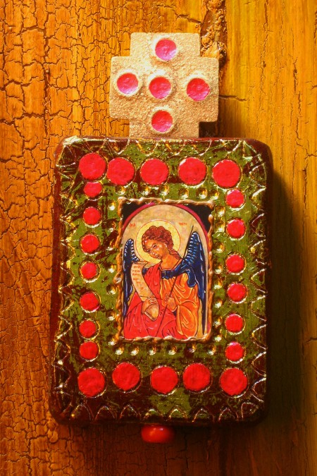 Saint Michael Wood Retablo