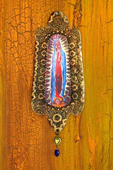 Guadalupe Rusty Retablo Ornament