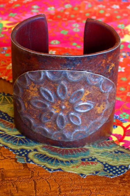 Wide Medallion Ranch Style Cuff
