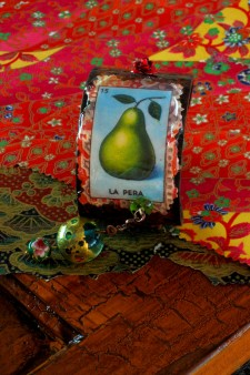 Mexican Loteria Pear Card Cuff
