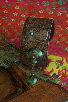 Small Width Cross with Turquoise Cuff