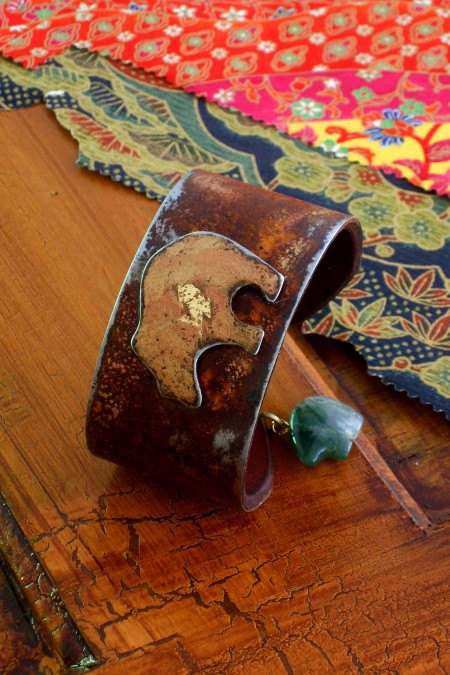 Small Width Mimbres Bear Ranch Style Cuff