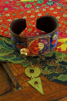 Richly Patterned Sun/Moon Cuff
