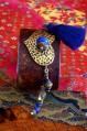Lapis and Antique Brass Cuff A
